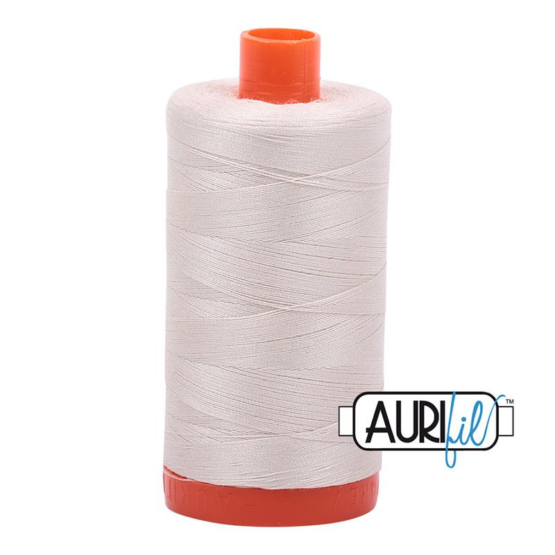 Aurifil Mako Thread 40wt Cone 2309 Silver White