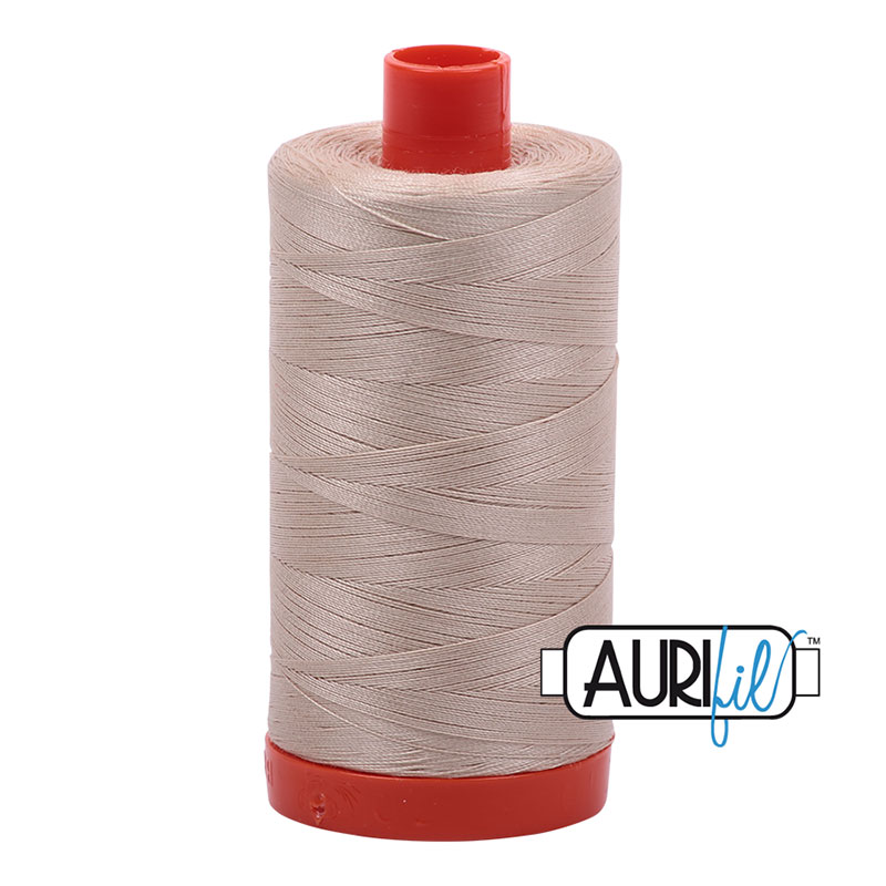 Cotton Mako Thread 50wt 1300m Ermine Beige