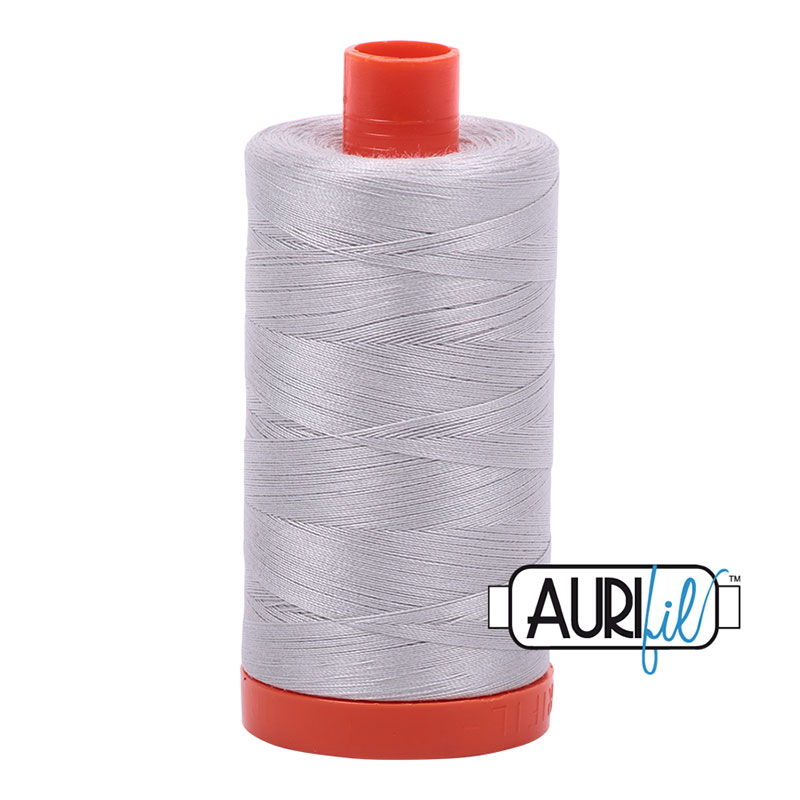 Aurifil  2615 Light Grey Cotton Mako Thread 50wt 1300m #2615