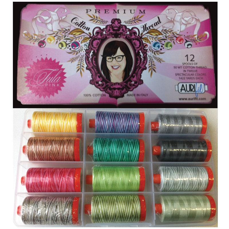 Tula Pink's Premium Collection  50wt Aurifil Cotton large spools