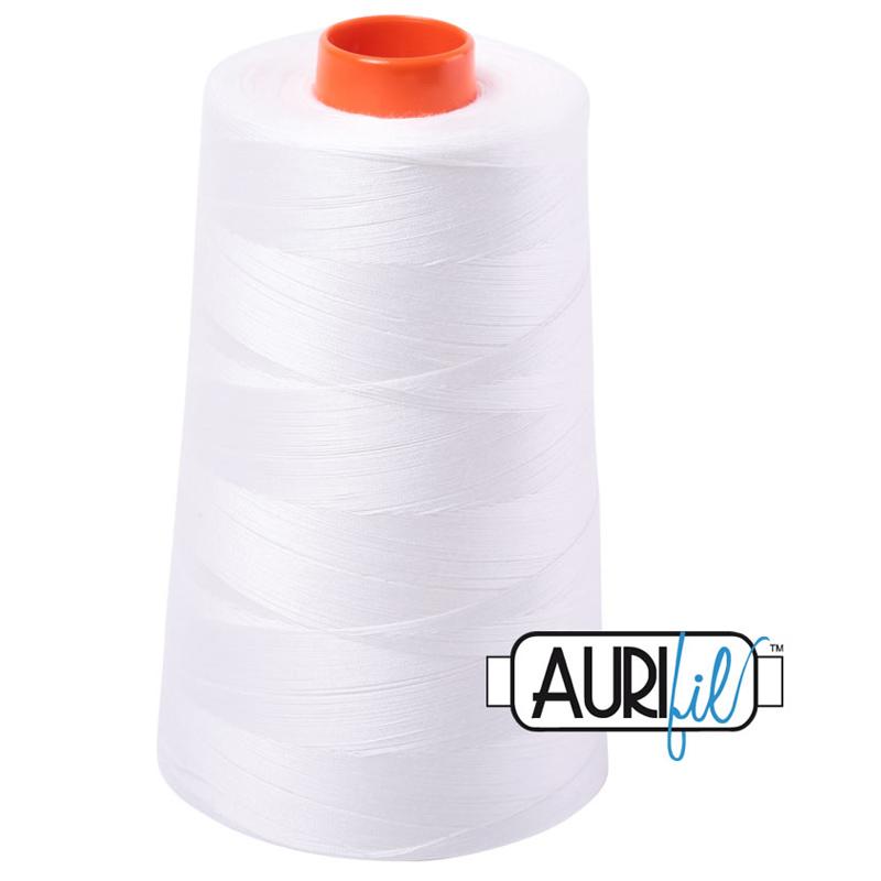 Aurifil Long Arm Mako 50wt 6452yd Cone - Natural White