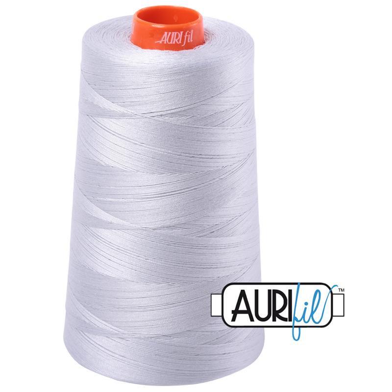 Aurifil Mako Cotton Thread 50wt Cone-2600 Dove Grey