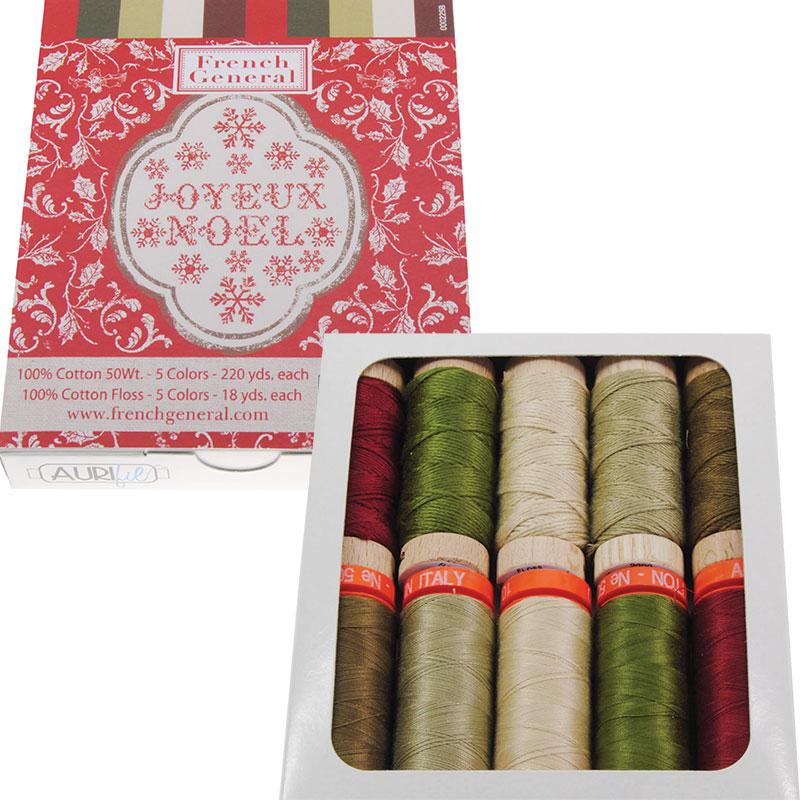 Joyeux Noel Aurifil Thread Kit