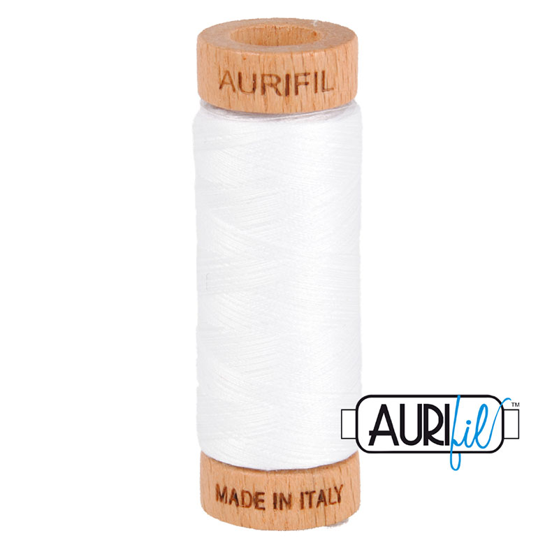 TH- Aurifil Thread 80wt 2024 White