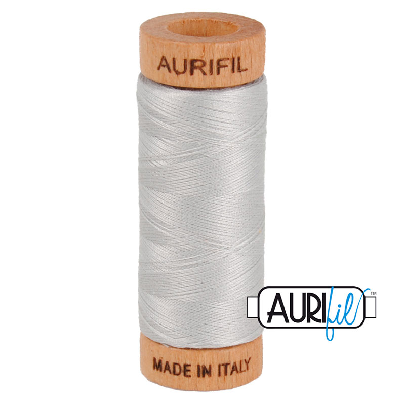 TH- Aurifil Thread 80wt 2615 Aluminium