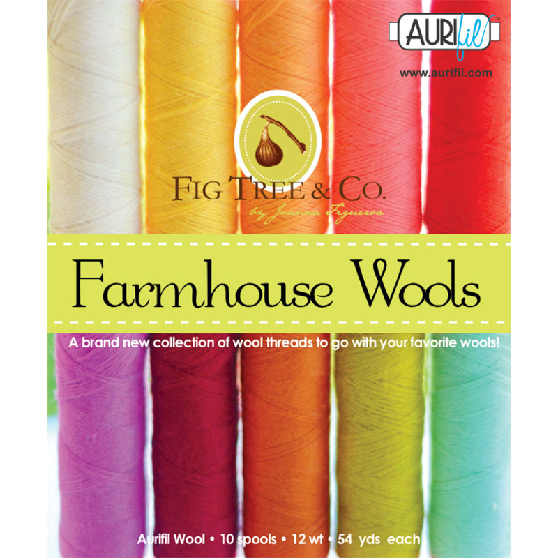 Aurifil Farmhouse Wool Collection by Fig Tree & Co