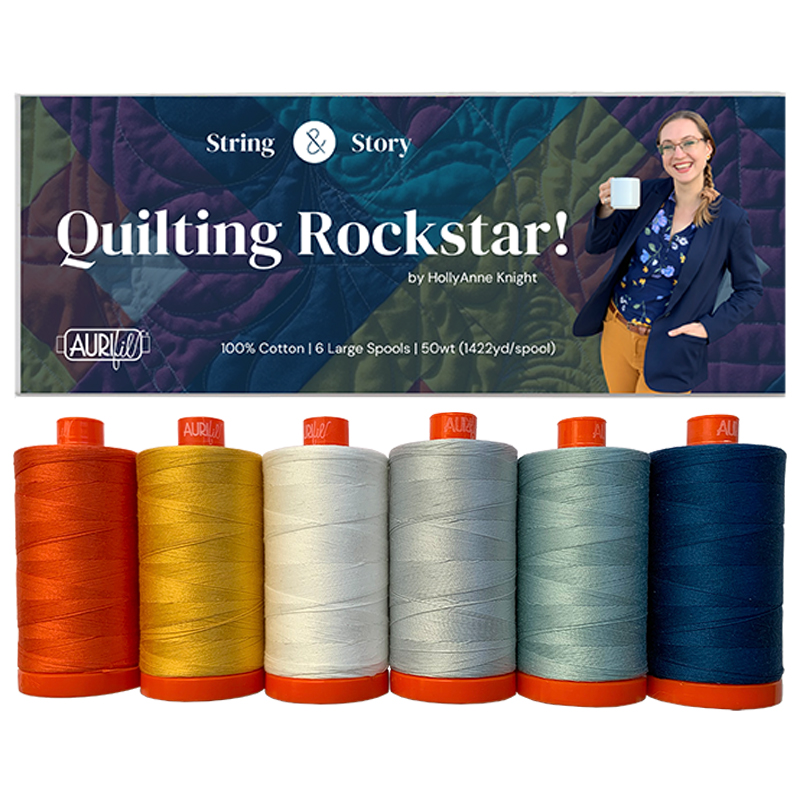 Quilting Rockstar Aurifil 50wt Large Spool Collection by HollyAnne Knight