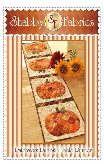 Patchwork Pumpkin Table runner Shabby Fabric
