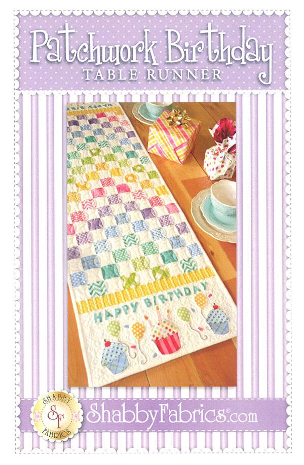 Jennifer Bosworth for Shabby Fabrics Patchwork Birthday Tablerunner SF48651