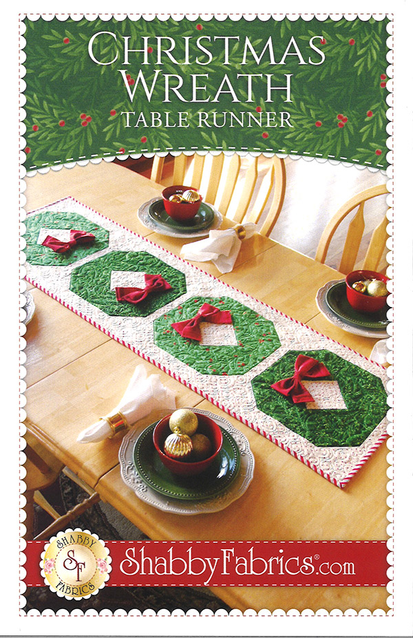 Christmas Wreath Table Runner Pattern