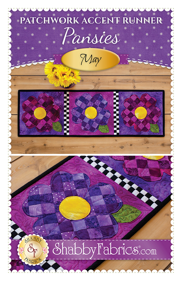 Patchwork Accent Runner/May/Pansie Kit
