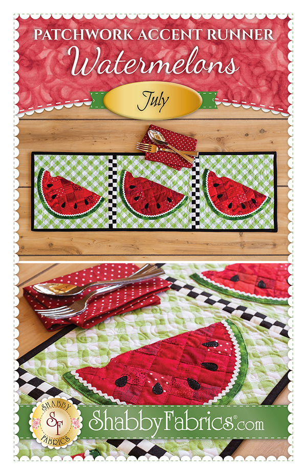 Patchwork Accent Runner/Jul/Watermelon Kit