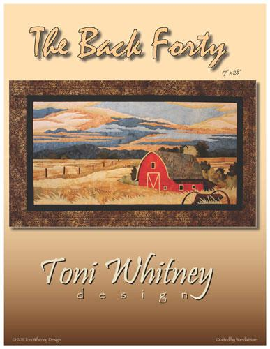 The Back Forty Applique Kit 17x 28 by Toni Whitney Design