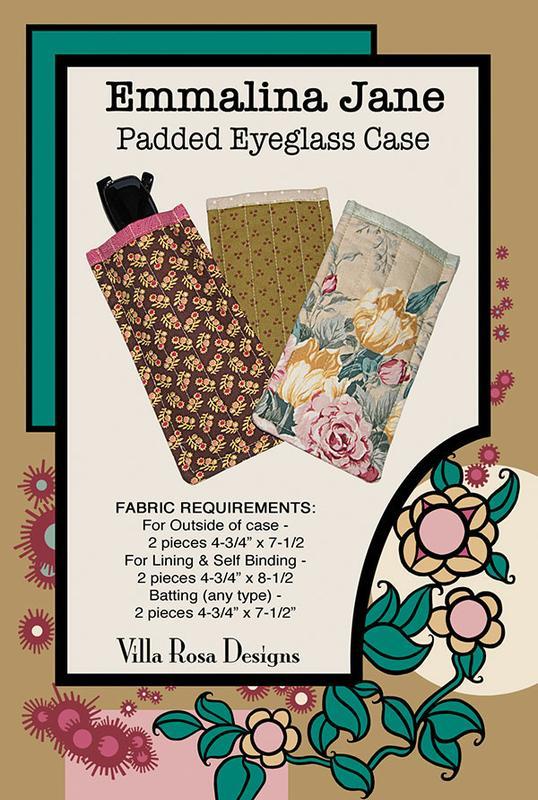 Emmalina Jane Eyeglass Case Pattern by Nancy Lorene Aitken | Villa Rosa Designs