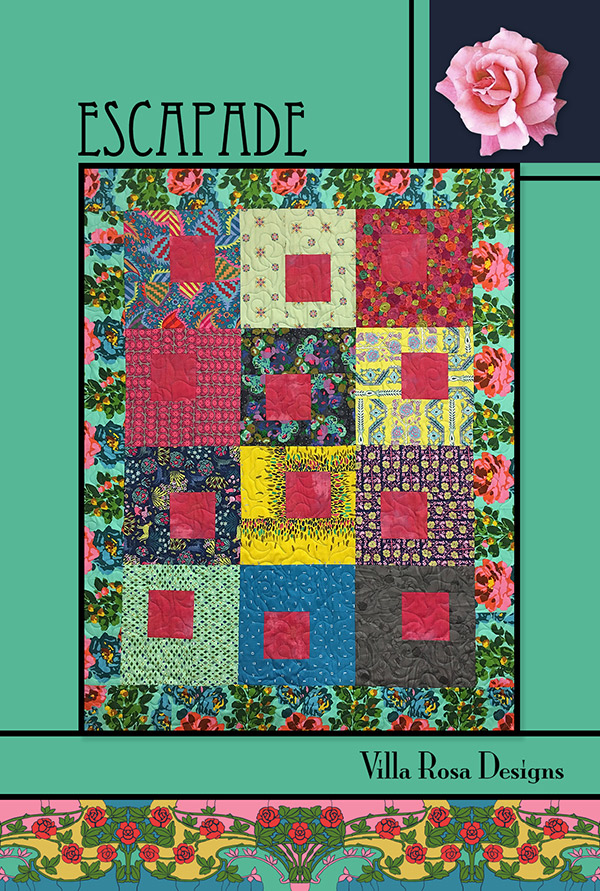 Escapade Quilt Pattern by Pat Fryer | Villa Rosa Designs