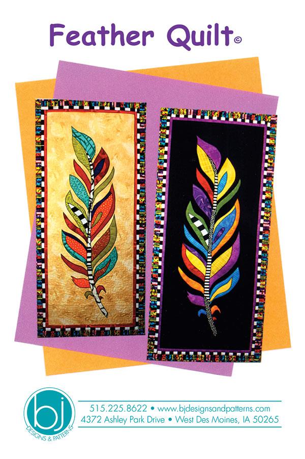B J Designs Feather Quilt Pattern