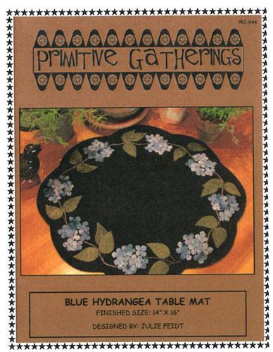 Blue Hydrangea Table Mat Pattern