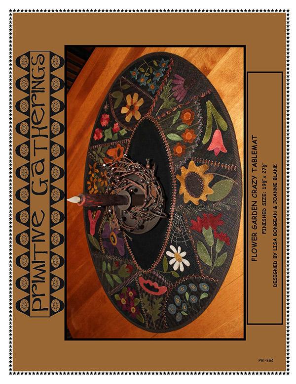 Flower Garden Crazy Table Mat kit