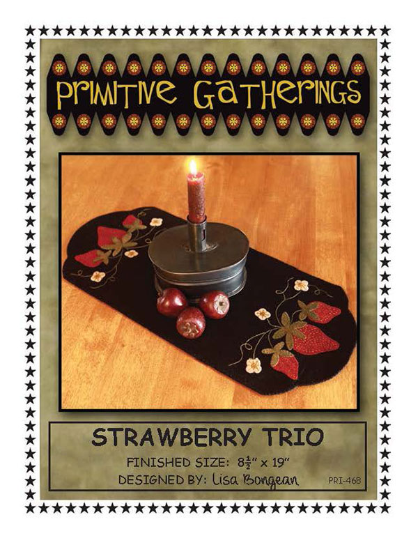 PT W Prim Gatherings Strawberry Trio Table Mat