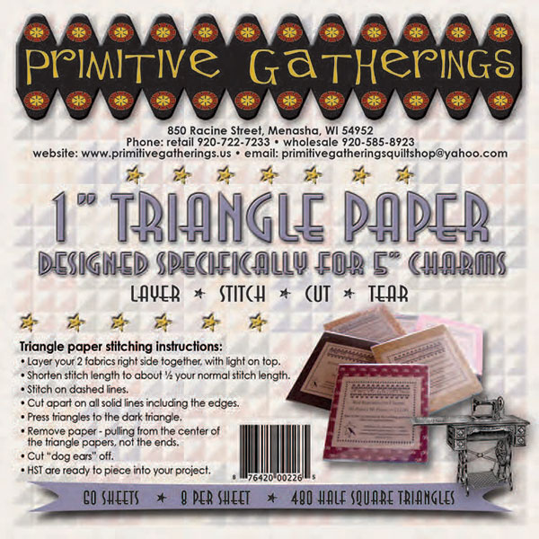 1 Triangle Paper For Charms