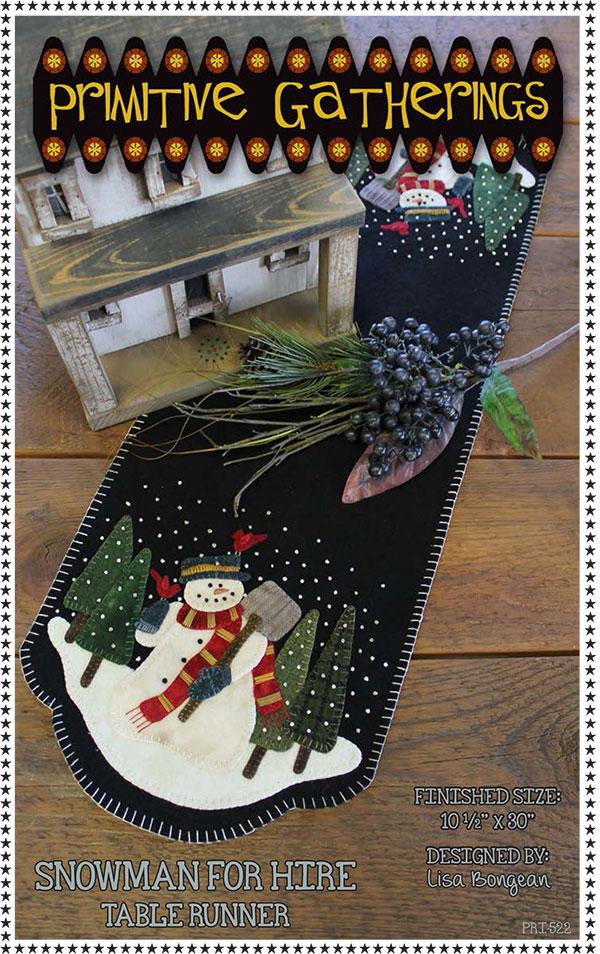 Snowman For Hire Table Runner kit