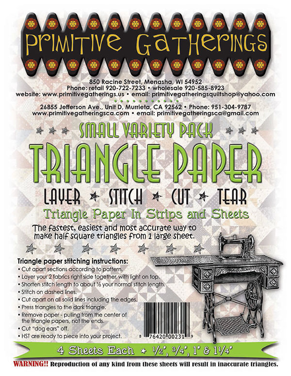 Small Variety Triangle Paper