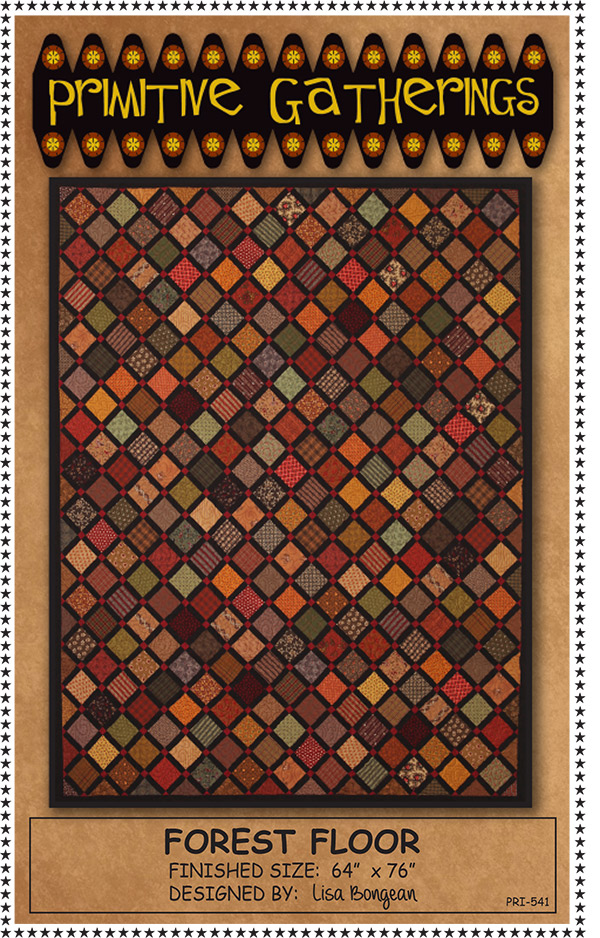 Forest Floor Quilt Pattern by Primitive Gatherings