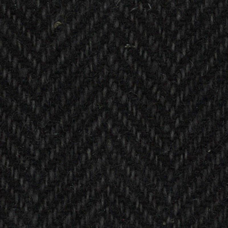 Wool F.Qtr Black Herringbone