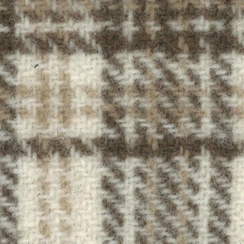 Wool Fat Quarter - Ecru Glens Plaid