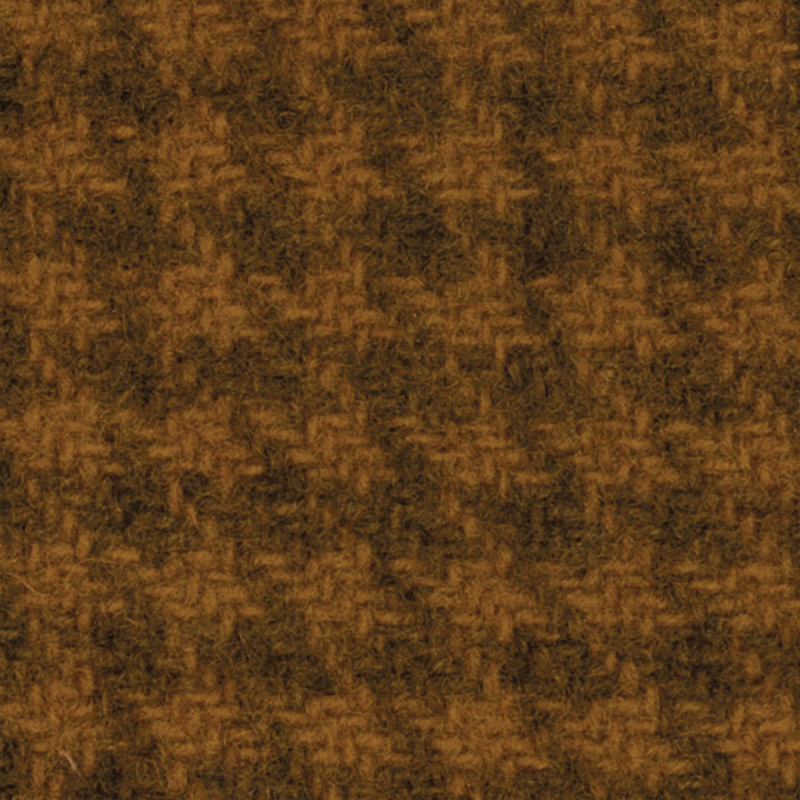Wool F.Qtr Mustard Houndstooth