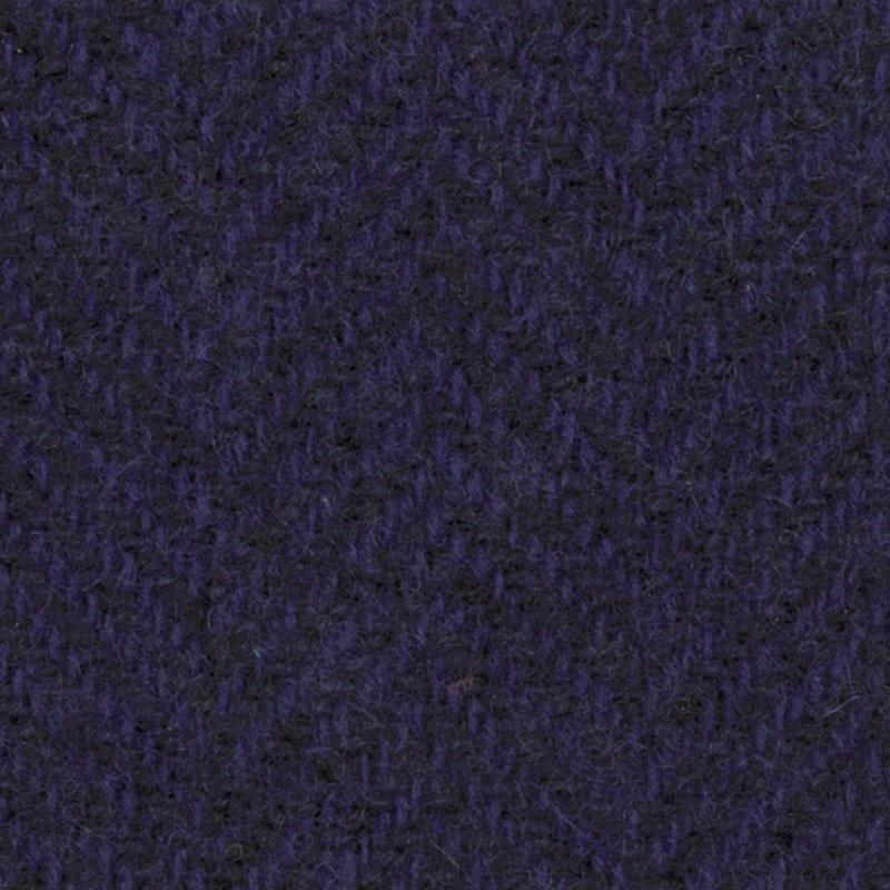 Wool F.Qtr Violet Herringbone