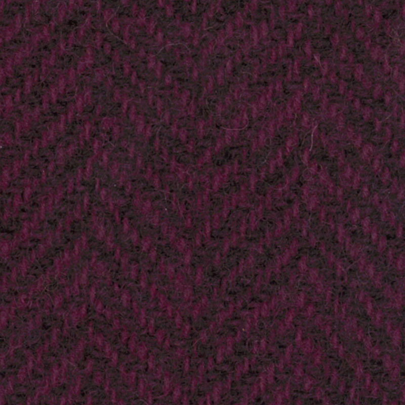 Wool F.Qtr Grape Herringbone