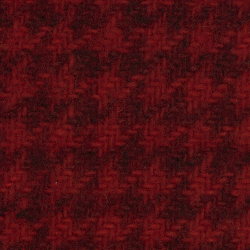 Wool F.Qtr Xmas Red Houndstooth