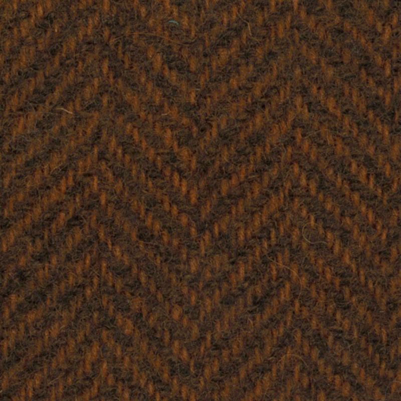 Wool Fat Quarter - Pumpkin Herringbone