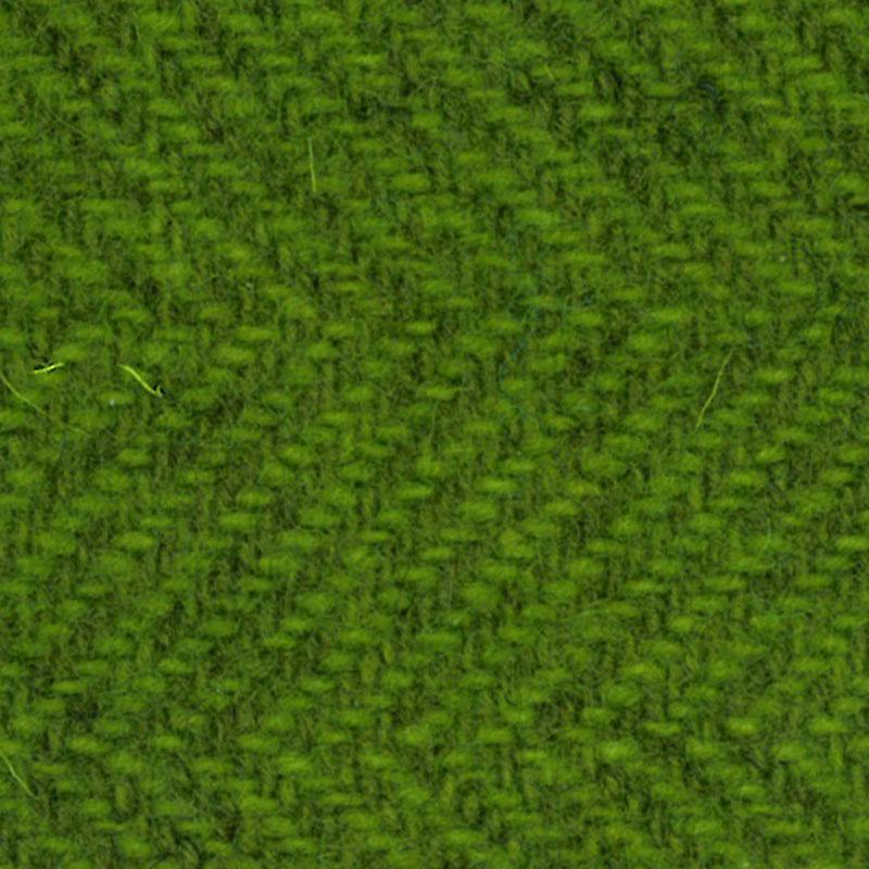 Wool F.Qtr Safe Grn Herringbone