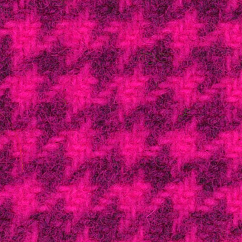Wool F.Qtr Fuchsia Houndstooth PRI 5118
