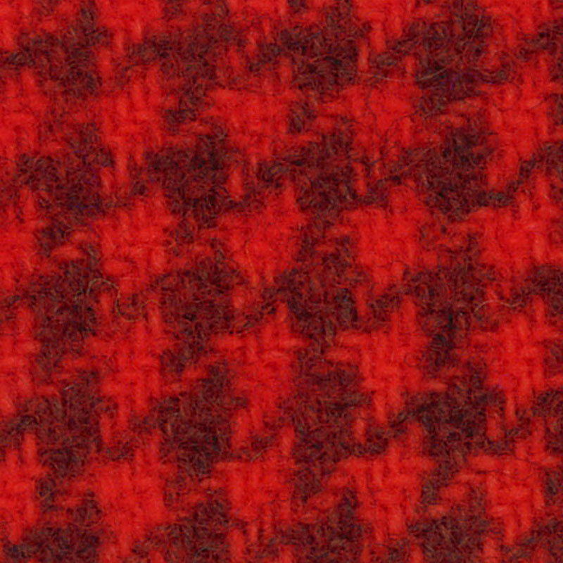 Wool FQ Tangerine Houndstooth