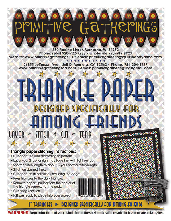 Among Friends Triangle Paper by Primitive Gatherings