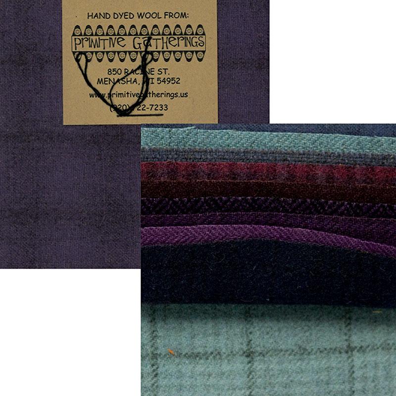 Wool 5 Charm Purples