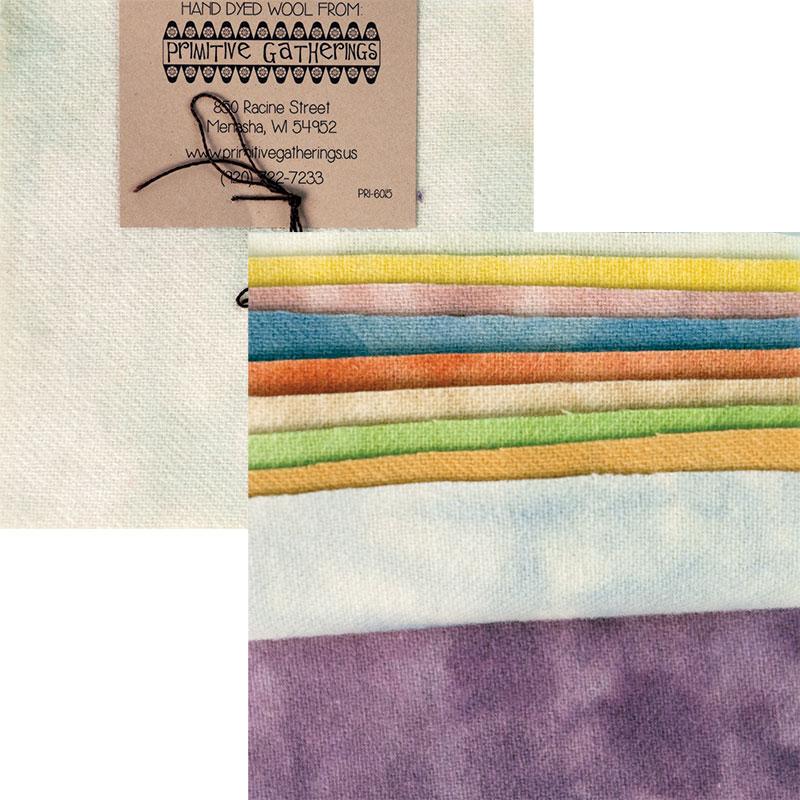 Prim Gatherings Wool Charm Pack Pastels