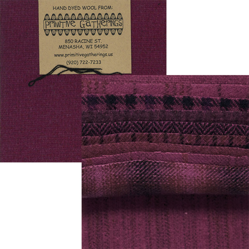 Wool 5 Charm Red Grape