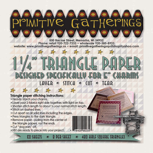 1 1/4 Triangle Charm Paper