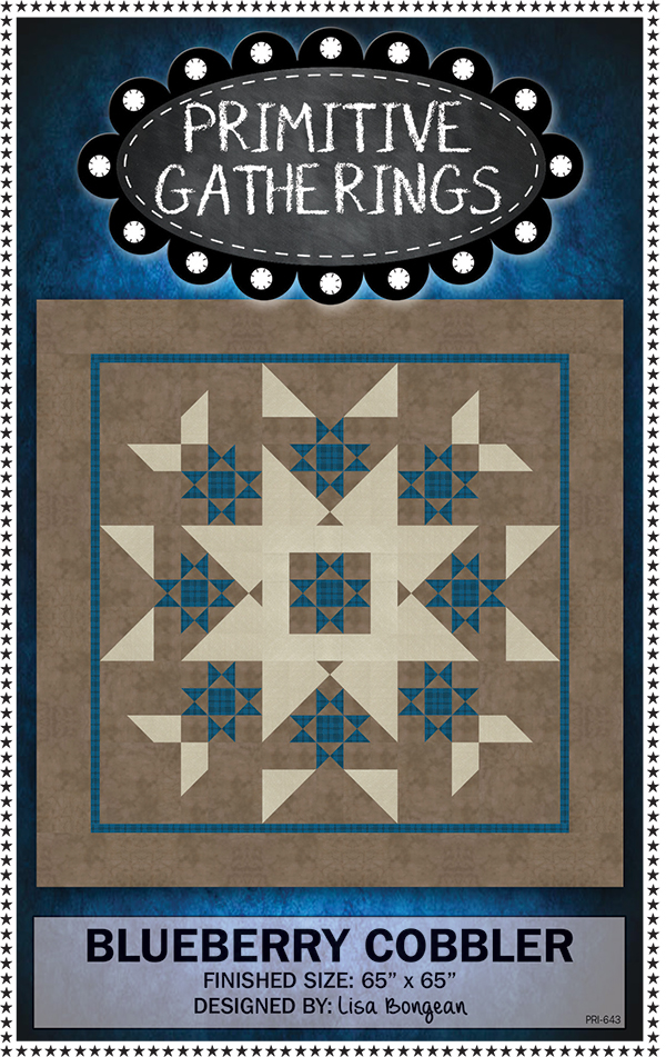 Blueberry Cobbler Quilt Pattern by Primitive Gatherings PRI643