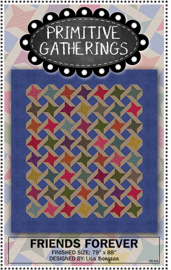 Friends Forever Quilt Pattern by Primitive Gatherings PRI649