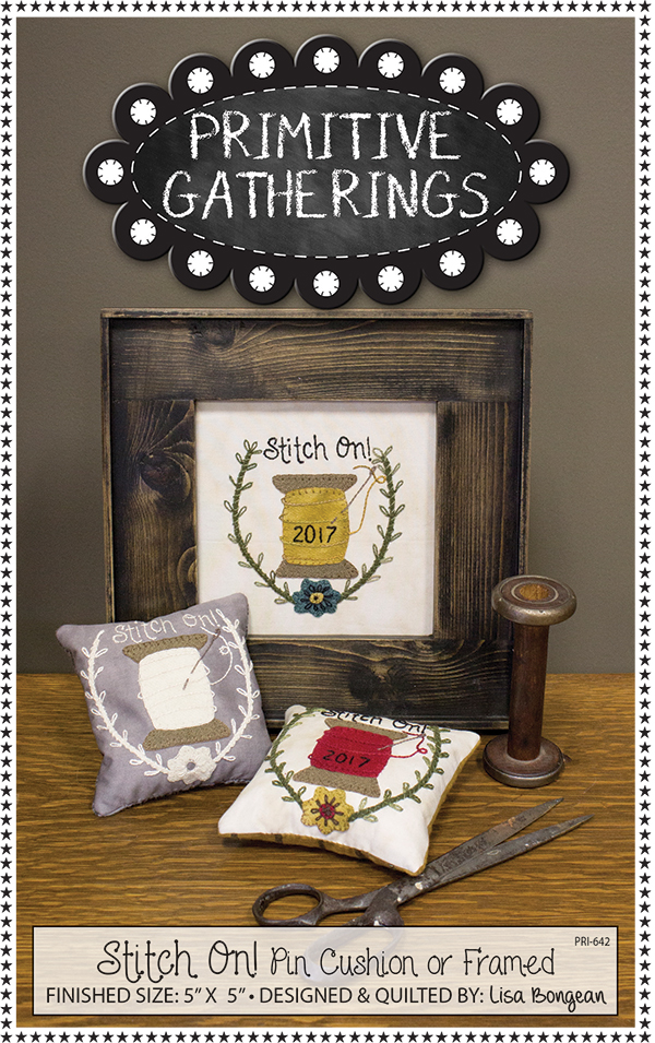 Stitch On! Pin Cushion or Framed by Primitive Gatherings