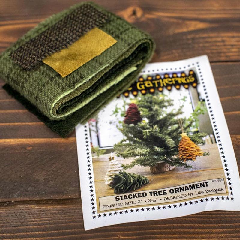 Stacked Tree Green Wool Kit