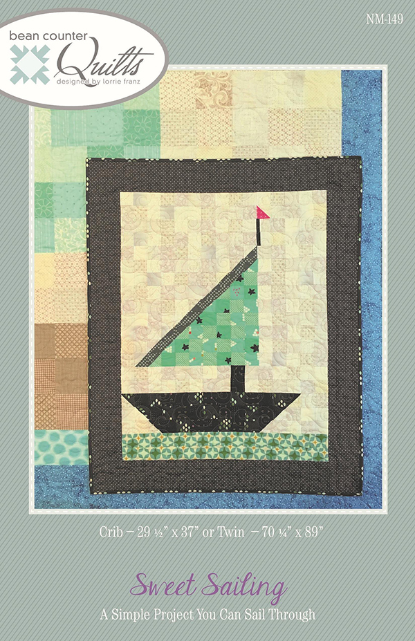 Sweet Sailing Crib Quilt Kit w/ Backing - 38 x 44
