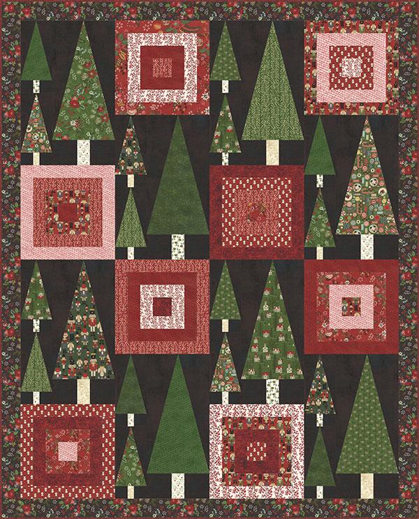 Trees & Tops Quilt Kit -Winter Village