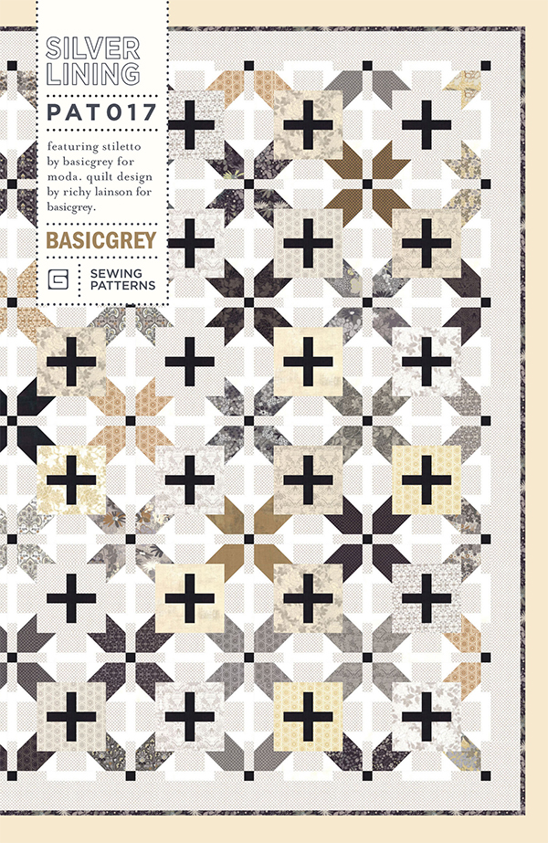 Silver Lining Quilt Pattern by Basic Grey