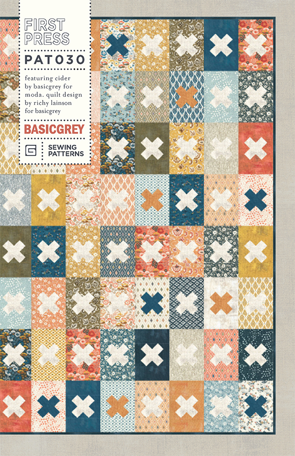 Cider First Press, Paper Quilt Pattern,  Layer Cake Friedly